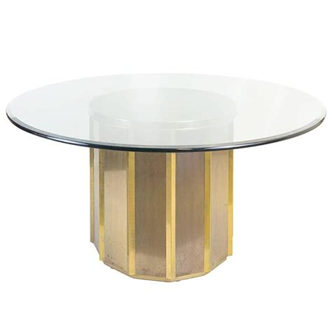 brass barrel mastercraft dining table base with