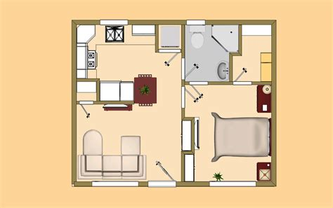 Small House Plans Under 700 Sq Ft by Small House Plan Under 500 Sq Ft Good For The Quot Guest