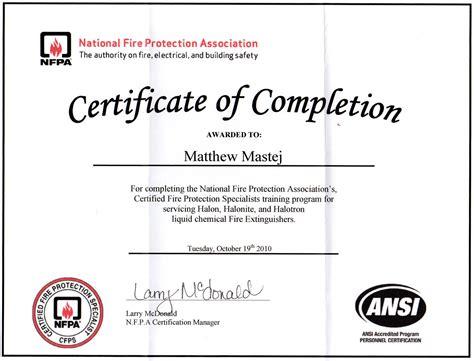 extinguisher certificate template matthew mastej portfolio