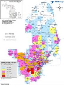 power outage map dte outage map shows widespread effects of wednesday s winds