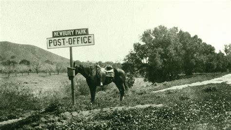 Newbury Park Post Office by Newbury Park Post Office 1909 To A Sign