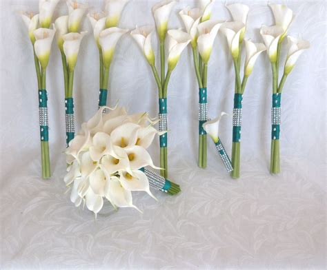 Wedding Bouquets Using Calla Lilies by Calla Wedding Bouquet Real Touch Mini White Calla