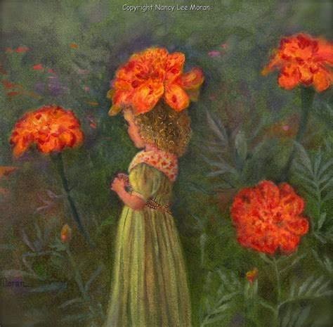 marigold paint 5x7 new art original oil painting hand painted flowers
