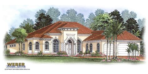 One Story Tuscan House Plans by Single Story Tuscan Style House Plans