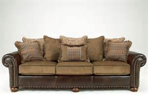 cordoba traditional faux leather chenille sofa