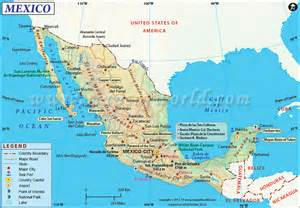mexico and map airports in mexico map
