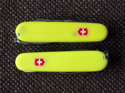 Swiss Army Sa3031 Original Brown Yellow 1 victorinox climber and huntsman with stayglow scales vicfan