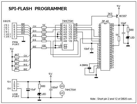 ic programmer circuit diagram circuit diagram of the spi programmer basic circuit