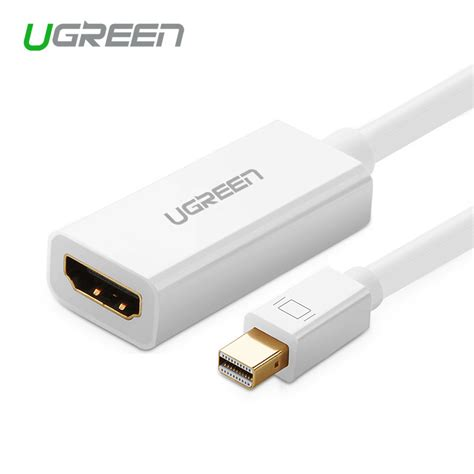 Display Port To Hdmi Port Adapter ugreen high quality thunderbolt mini displayport display port dp to hdmi adapter cable for apple