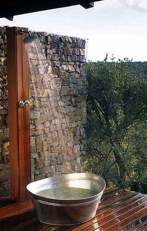 outdoor showering 30 cool outdoor showers to spice up your backyard