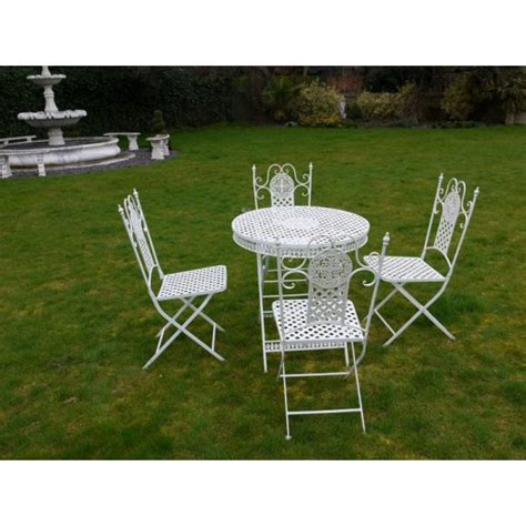 Garden Furniture Sets Sale Buy White 4 Seater Dining Set White Patio Set Swanky