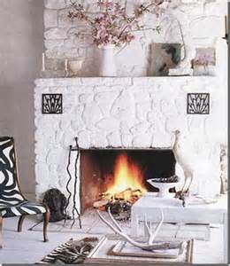 painted white fireplace living