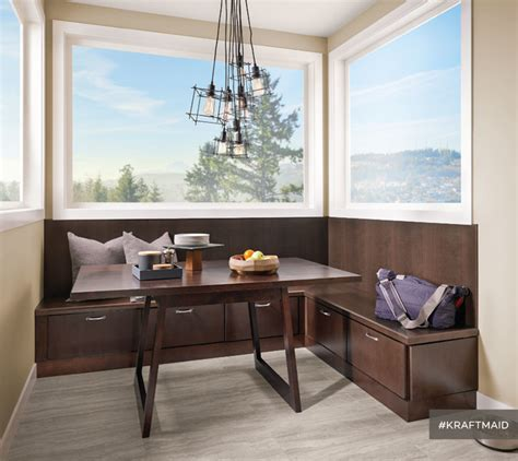 Contemporary Bedroom Decorating - kraftmaid banquette seating contemporary dining room detroit by kraftmaid