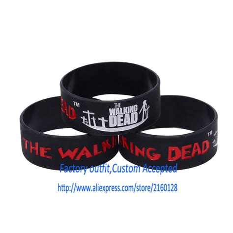 1 inch silicone bracelets custom aliexpress com buy 1pc the walking dead silicone