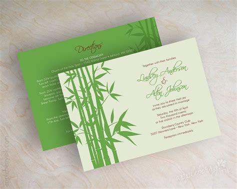 asian themed invitations inspired wedding wedding invitations green wedding invitations