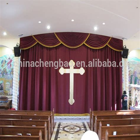 China Velvet Fabrics Church Curtains For Sale Buy Church