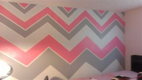 pink and white striped bedroom walls pink grey white chevron striped walls bedroom ideas
