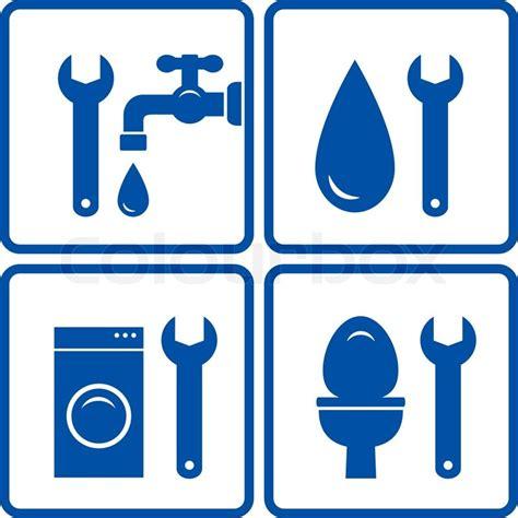 Plumbing Signs by Pin Washing Symbols On