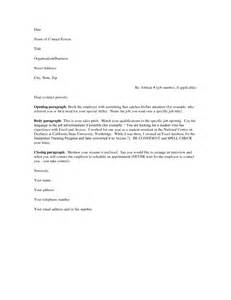 Format Of A Cover Letter For A Resume by Free Cover Letter Sles For Resumes Sle Resumes