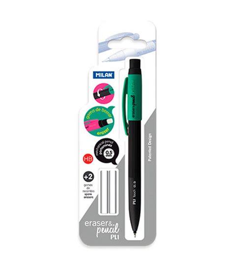 Milan Pl1 Mechanical Pencileraser Murah milan pl1 touch 0 5mm eraer pencil in blister pack with