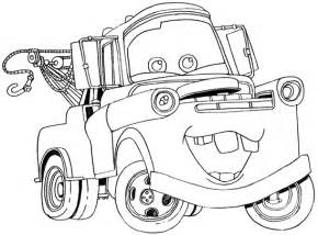mater coloring pages mater the tow truck images tow mater coloring page