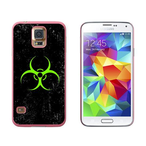 n samsung symbol biohazard warning symbol green zombies distressed for samsung galaxy s5 ebay