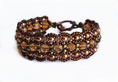 Handmade Bracelets Tutorial - free beaded pattern for bracelet honey magic