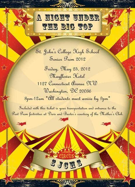 circus colors vintage circus invitations paper ink design