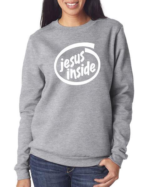 Jumper Unisex Light Grey by Jesus Inside It Intel Unisex Jumper