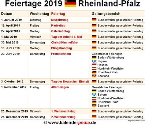 Kalender 2020 Rlp Feiertage Rheinland Pfalz 2017 2018 2019 Mit