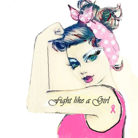 fight like a girl tattoo rosie fight like a pink breast cancer by
