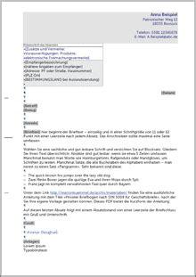Beschwerdebrief Aufbau privater briefbogen nach din 5008 f 252 r gesch 228 ftsbriefe