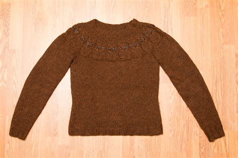 Owel Sweter completed owl sweater rake and make