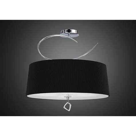 Low Energy Ceiling Light Fittings Mantra Mara 4 Light Low Energy Semi Flush Ceiling Fitting In Polished Chrome Finish With Black