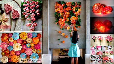 Handmade Paper Ideas - mesmerizing diy handmade paper flower projects to