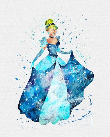 Cinderella Watercolor Print Disney And