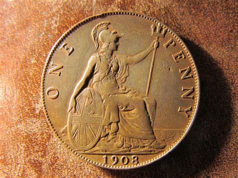 preguntas de penny harry potter moneda inglaterra cobre 1 penny penique 1908 buen estado