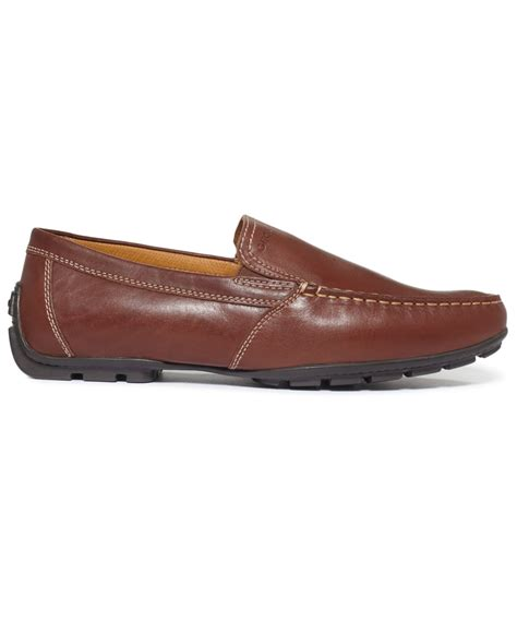geox mens loafers geox monet venetian loafers in brown for coffee lyst