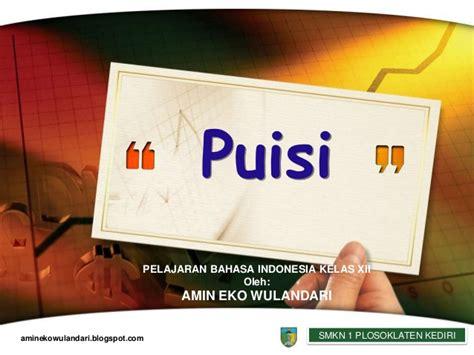 menulis puisi ppt materi pelajaran bahasa indonesia puisi