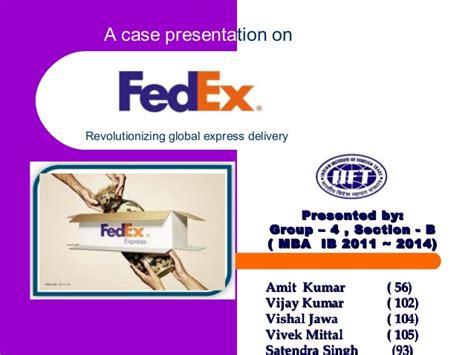 Fedex Supply Chain Mba Intern by Scm Fedex