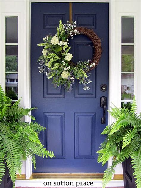 blue front door colors tried and true nautical blue paint colors sand and sisal