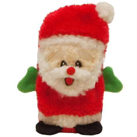 kyjen holiday invincibles mini santa entirelypets