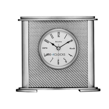bulova desk clock price bulova hewitt aluminum desk clock at 1 800 4clocks com