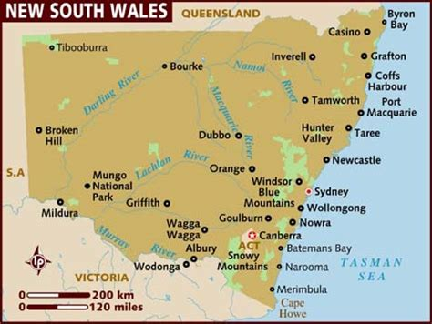 map of nsw australia new south wales pictures map map of australia region