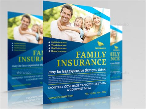 Insurance Flyer Template By Owpictures Graphicriver Insurance Flyer Templates