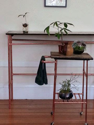 copper pipe furniture make a reclaimed wood table diy mother earth news