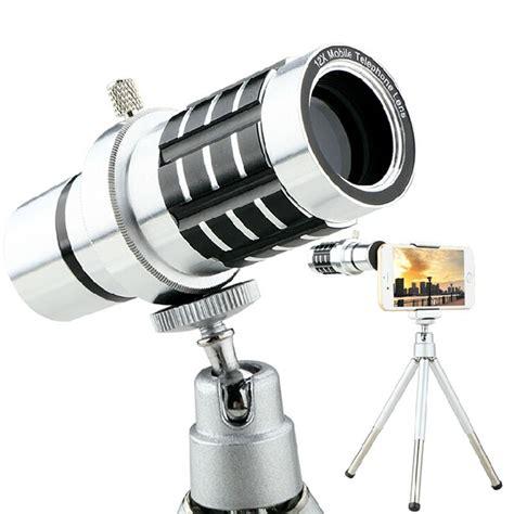 Tellezoom 8x Universal Plus Tripod Plus Holder All Smartphone aluminum universal 12x zoom telescope mobile phone lens mini tripod adjustable clip