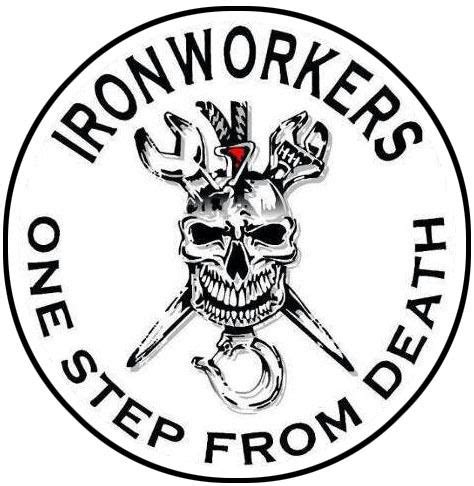 ironworker quot one step away from death quot decal sticker free