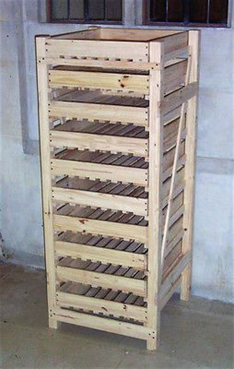 Wooden Fruit and Apple Storage Rack   10 Drawer   Soap
