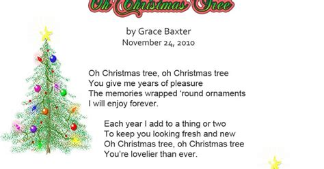 christmas tree poem it s all about oh tree by grace baxter